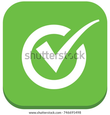Checking mark icon design,vector