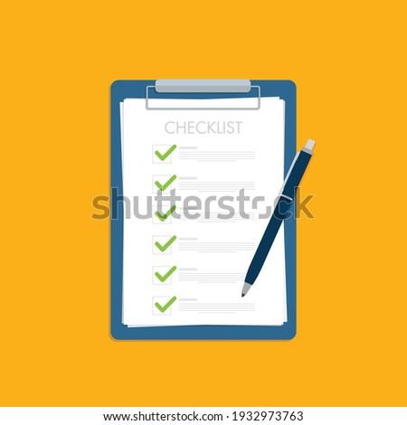 Checklist, Clipboard and Pencil Icon Foto stock ©