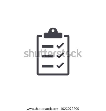 checklist icon EPS10
