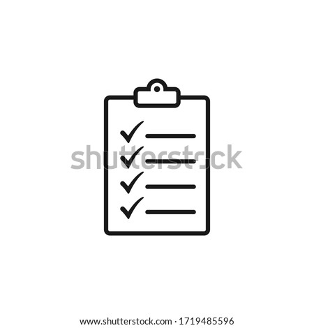 Checklist icon flat vector design Photo stock ©