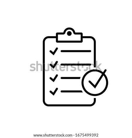 Checklist icon isolated on background. Clipboard line icon. Checklist sign symbol for web site and app design.