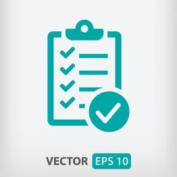 checklist icon. One of set web icons