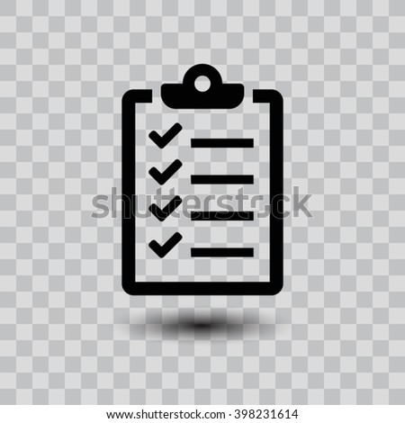 checklist icon. One of set web icons