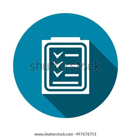 Checklist Icon Vector #497676751