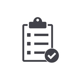 checklist icon , vector illustration