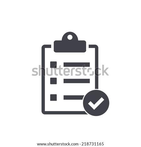 checklist icon , vector illustration