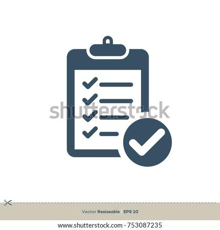 Checklist Icon Vector Logo Template Illustration Design. Vector EPS 10.
