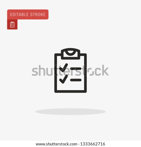 Checklist Simple vector icon. Illustration symbol design template for web mobile UI element. Perfect color modern pictogram on editable stroke. Checklist icons for your business project #1333662716
