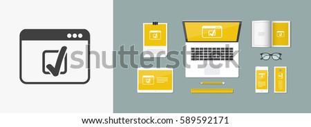 Checkmark icon - Vector flat minimal icon