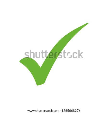 checkmark icon vector, on white background editable eps10