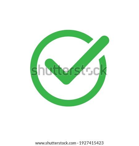 Checkmark right vector icon. Green checklist vector design. Checkmark icon for business, office, poster, and web design.