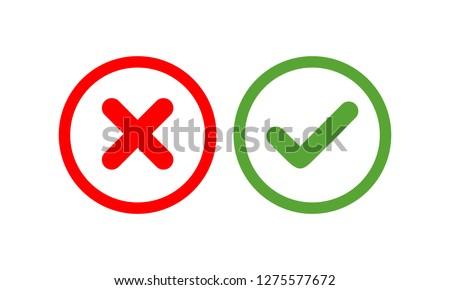 Checkmark vector icon, approved symbol vector