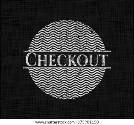 Checkout with chalkboard texture