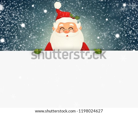 3ddc8246c5456 Cartoon Santa Holding Sign With Christmas Message - Download Free ...