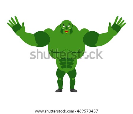cheerful ogre spread his arms