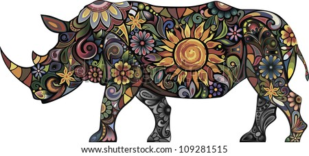 cheerful rhinoceros