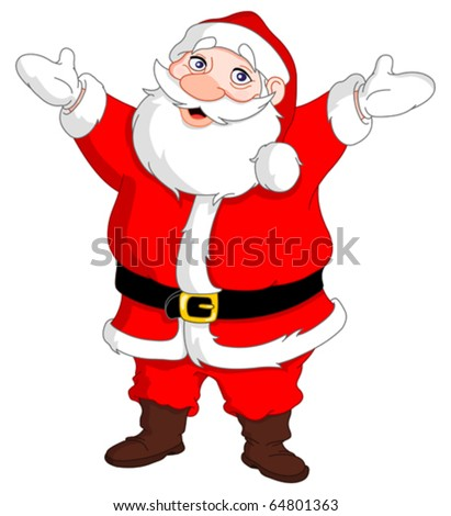 Cheerful santa