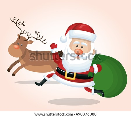 cheerful santa claus with
