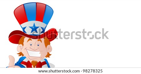 Cheerful Uncle Sam Banner