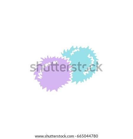 cheerleader pom poms doodle icon
