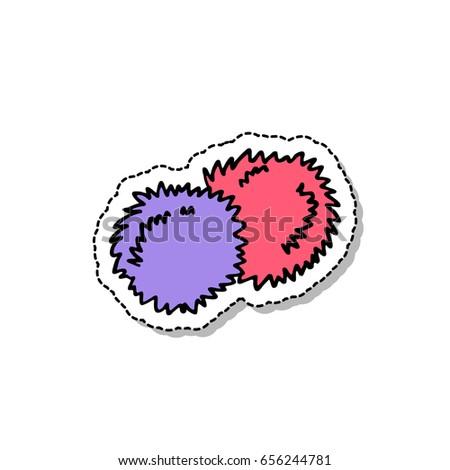 cheerleader pom poms doodle