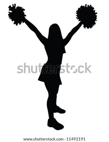 cheerleader vector illustration