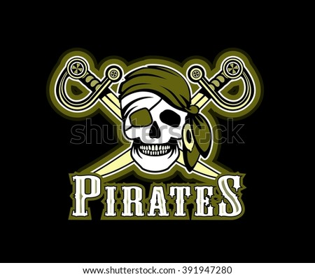 Pirate Skull Emblem Download Free Vector Art Stock Graphics Images