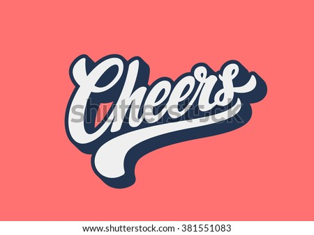 Cheers lettering text