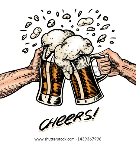 cheers toast beer in hand