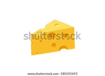 cheese cartoon. Hand drawn isolated on white background.