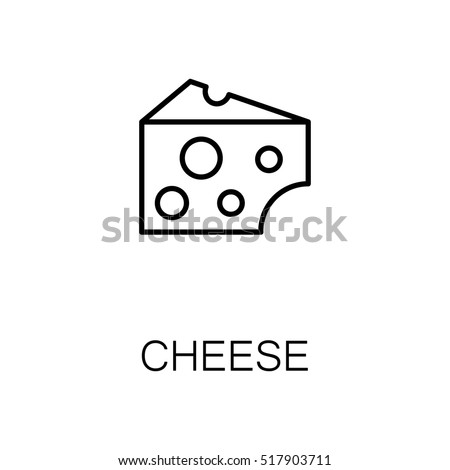 Cheese flat icon. Single high quality outline symbol of milk food for web design or mobile app. Thin line signs of cheese for design logo, visit card, etc.