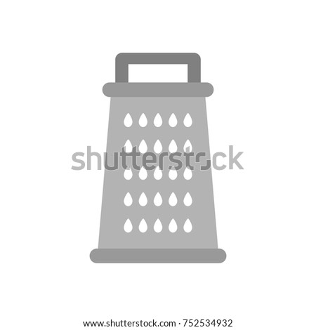 Cheese grater vector icon.
