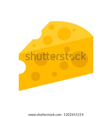 Cheese icon. Vector illustration