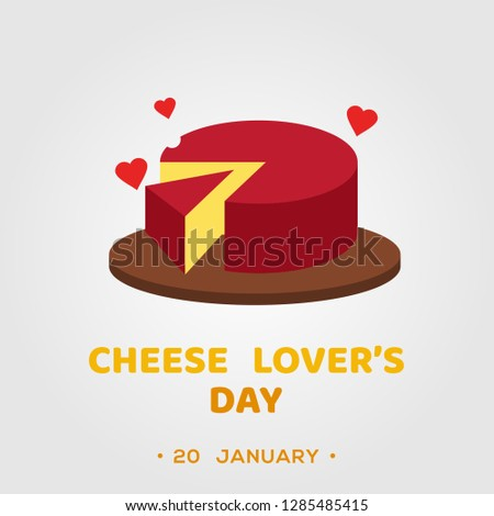 Cheese Lover Day Vector Design