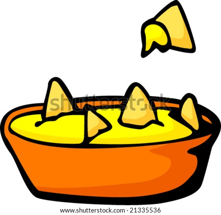 Nachos Clip Art Cheese nachos - stock vector