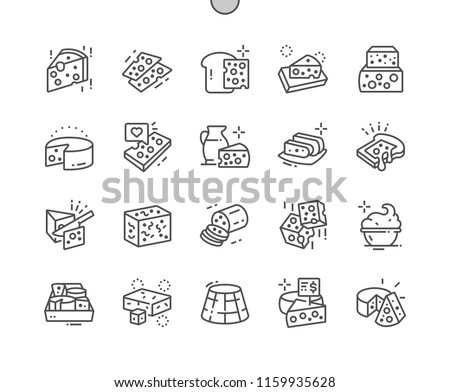 Cheese shop Well-crafted Pixel Perfect Vector Thin Line Icons 30 2x Grid for Web Graphics and Apps. Simple Minimal Pictogram