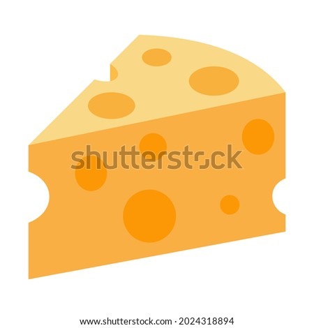 Cheese wedge icon isolated vector illustration on white background