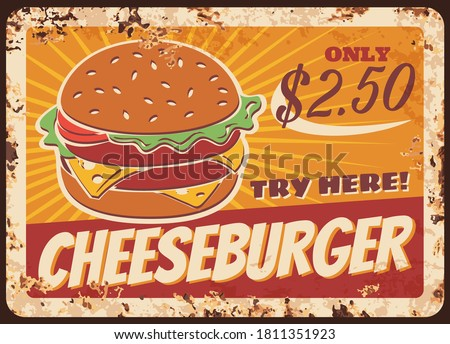 cheeseburger fast food rusty