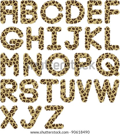 cheetah fur font alphabet
