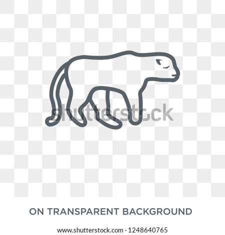 Cheetah icon. Trendy flat vector Cheetah icon on transparent background from animals collection. High quality filled Cheetah symbol use for web and mobile