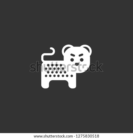 cheetah icon vector. cheetah vector graphic illustration