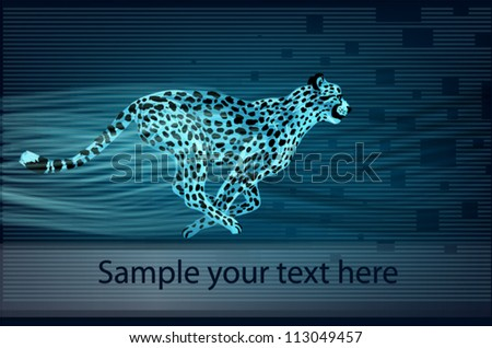 Cheetah on abstract background vector