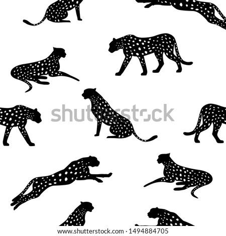 cheetah pattern and repeating