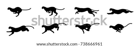 cheetah run cycle spritesheet