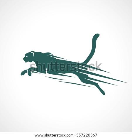 Cheetah symbol - vector illustration