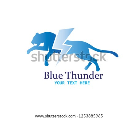 cheetah thunder logo  art