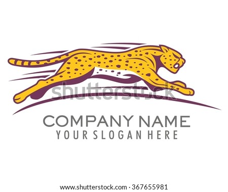 cheetah tiger cat beast fauna animal running vector