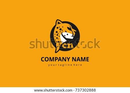 Cheetah vector mascot logo icon