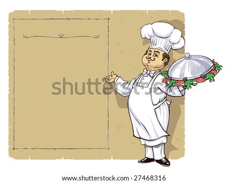 Chef and blank Menu page