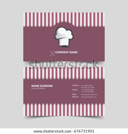 Chef business card design template.